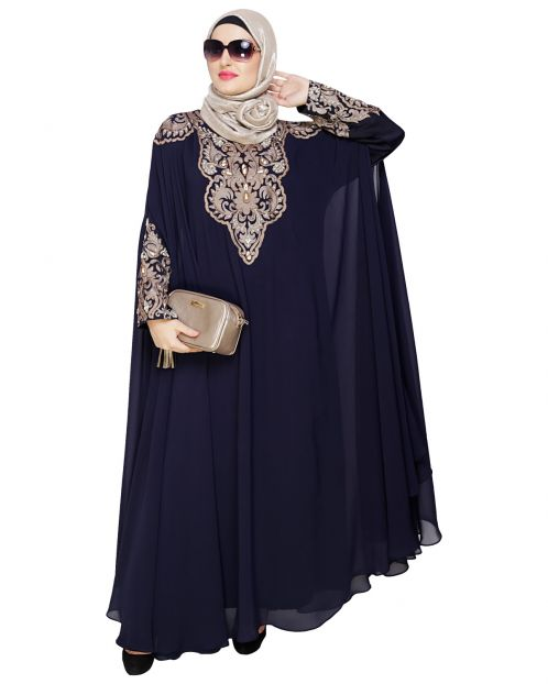 Luxury Blue Irani Kaftan