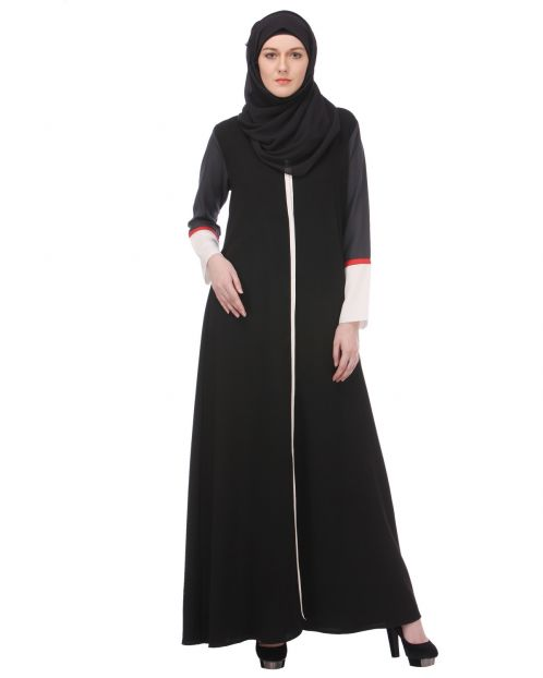 Casual Black Everyday-wear Abaya