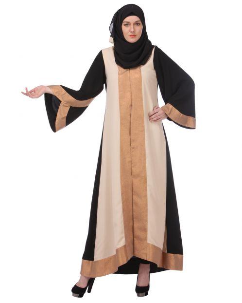 Shimmer panelled Casual Abaya