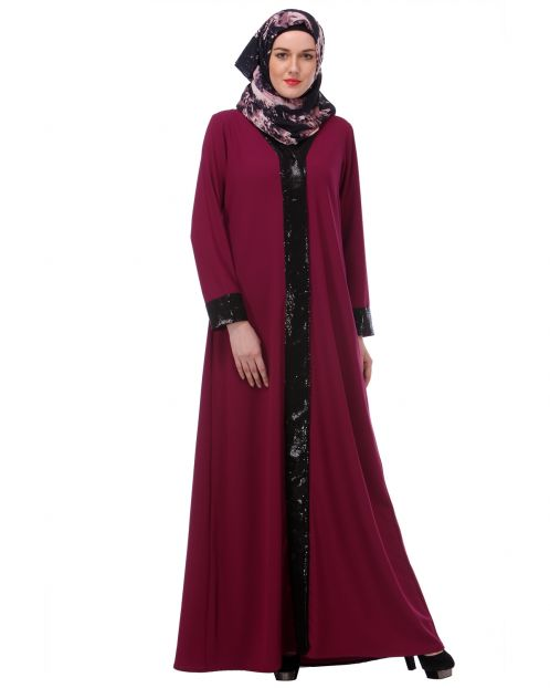 Falsa sequined Formal Abaya