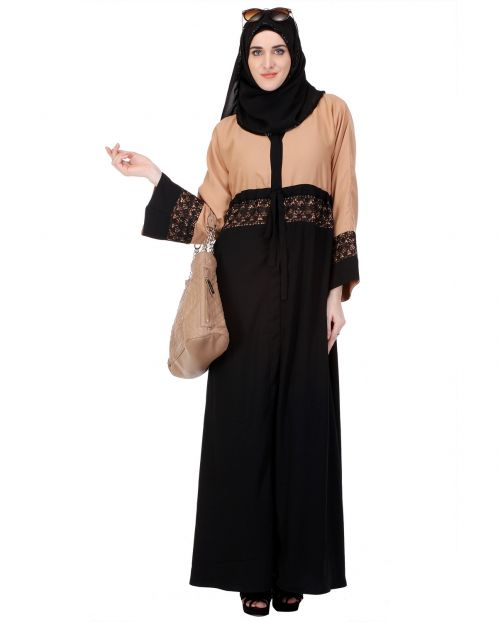 Formal Black & Brown Abaya