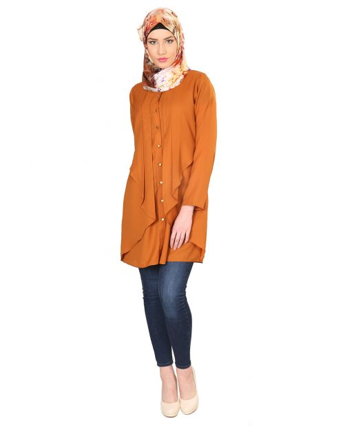 Sophisticated Brown layered Tunic