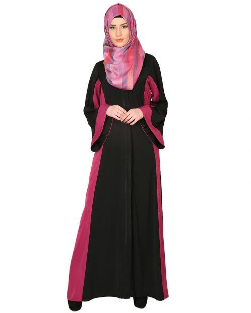 Black And Magenta Abaya