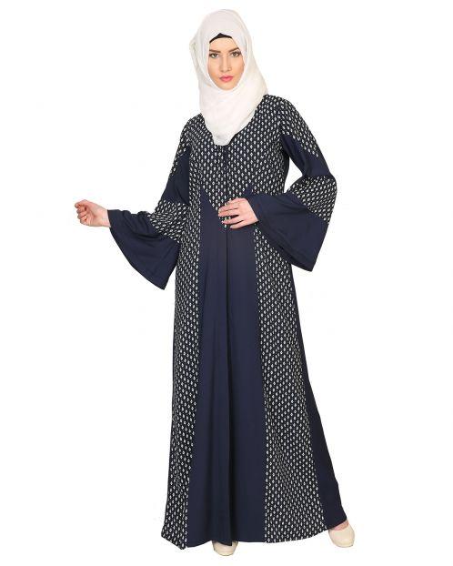 Printed Paneled Abaya