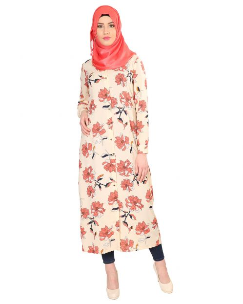 Floral Printed Long Tunic