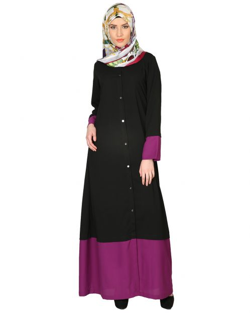 Black And Purple Abaya