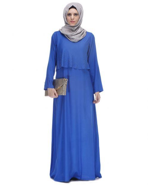 Cobalt Blue Trendy Abaya