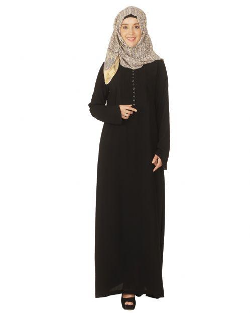Classic Black Pintuck Abaya