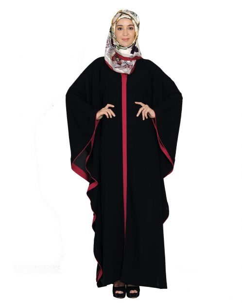 Black and Magenta Kaftan