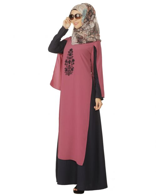 Double layer Blue Abaya