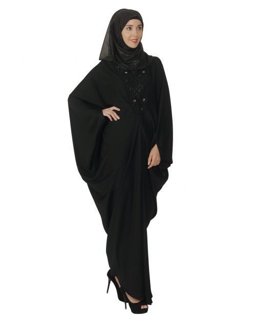 Black Katan with Katdana Embroidery