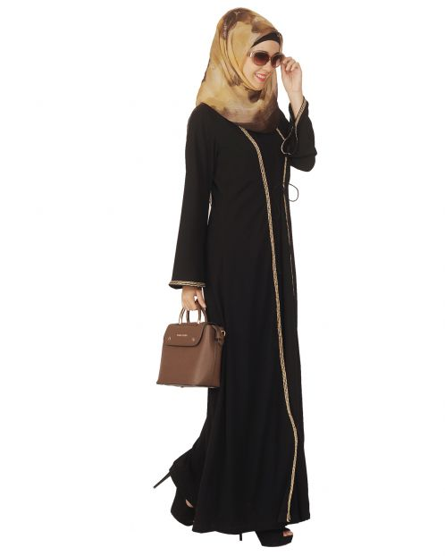 Jacket Style Closed Abaya
