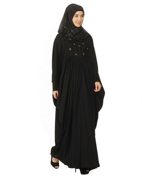 Black Embroidered Kaftan
