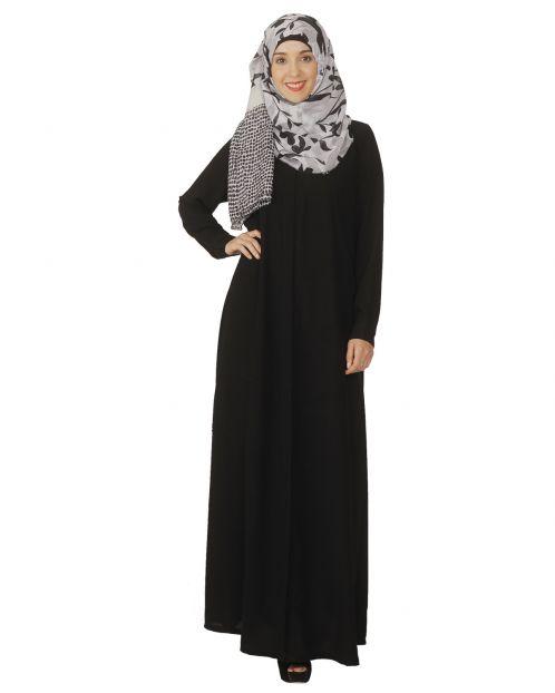 Black Pintuck Abaya