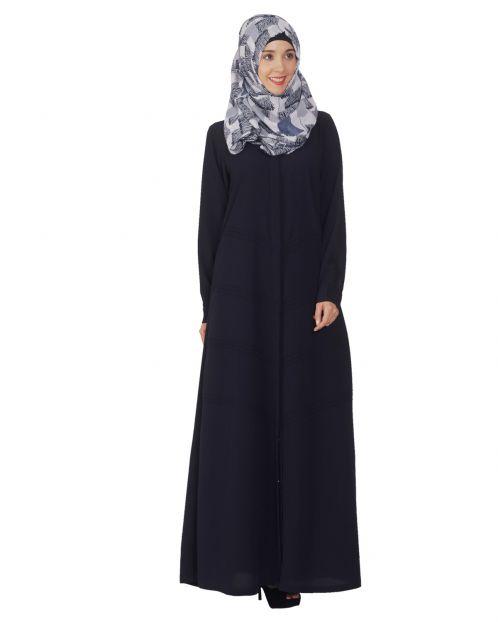Blue Pintuck Abaya