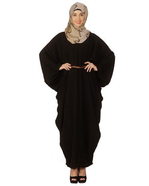 Black Kaftan Maxi Tunic