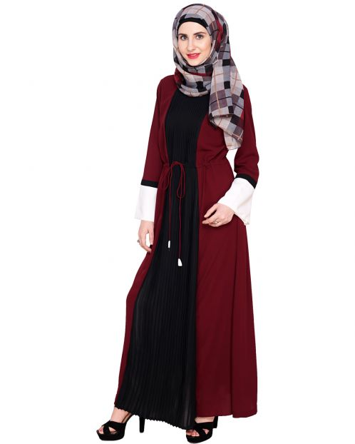 Front Pleated Abaya