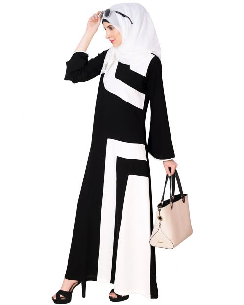 Multi Color Bold Strip Abaya