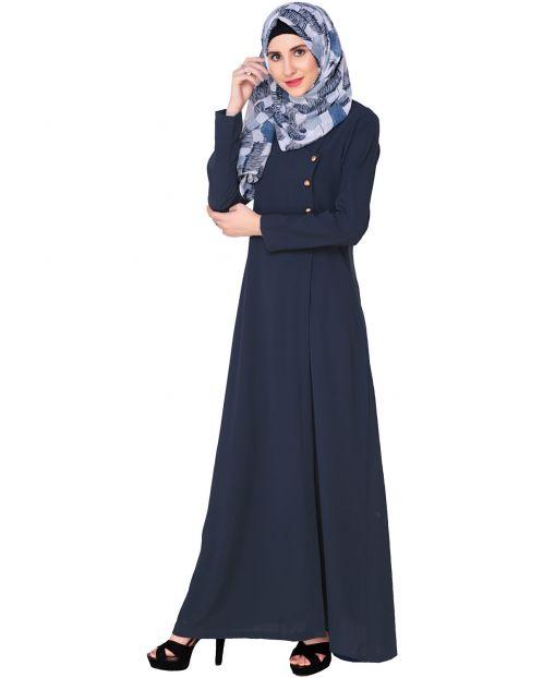 Classic Blue Abaya