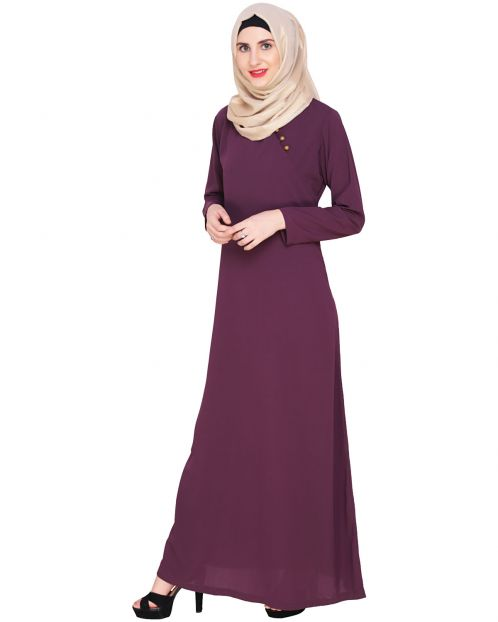 Purple Trendy Abaya Dress