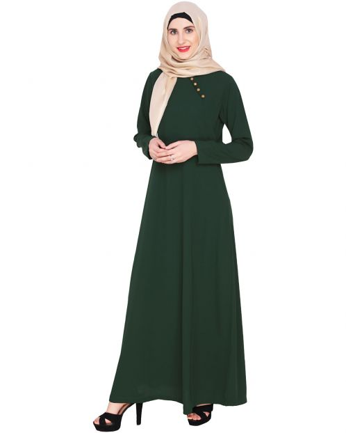Green Trendy Abaya Dress