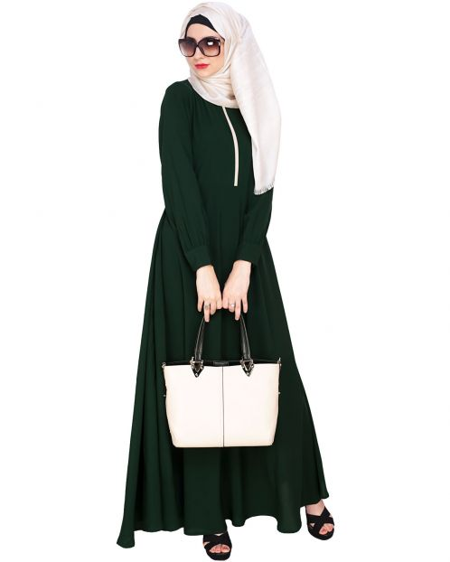 Green Maxi Dress Abaya