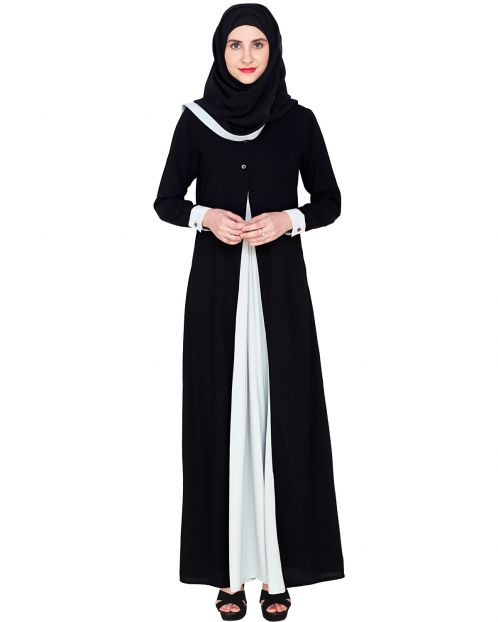 Pretty Sage Green Layered Abaya