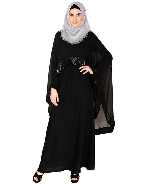 Black Cape Abaya