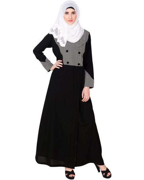Classic Black Coat Abaya