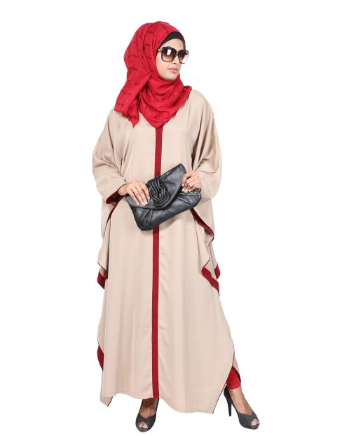 Beige & Red Kaftan