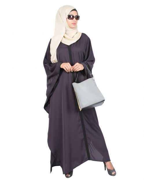Dark Purple & Black Kaftan
