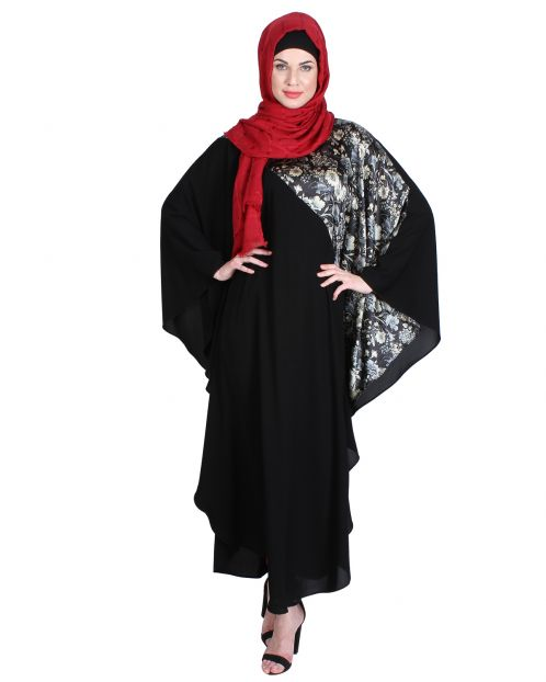 Stylish Black Printed Kaftan