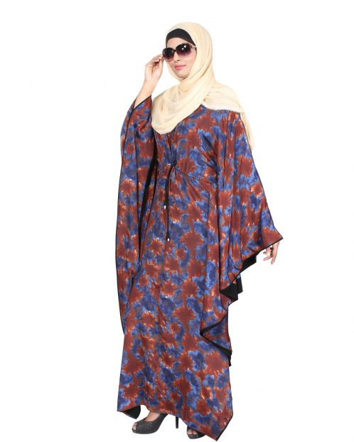 Multi Color drawstring Floral Kaftan
