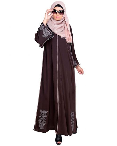 Bewitchting Floral Dubai Style Embroidered Abaya