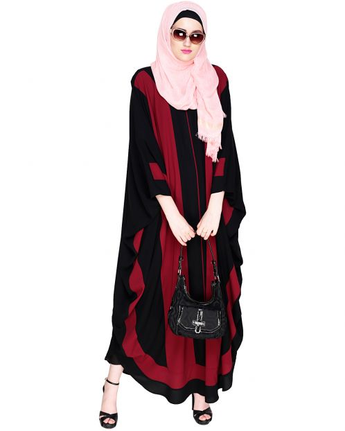 Aesthetic Black & Wine Kaftan