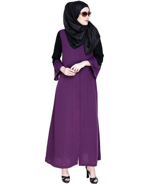 Folksy Purple Abaya
