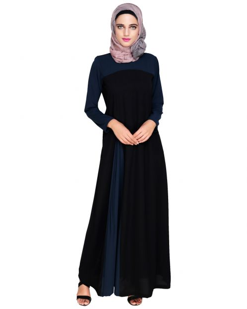 Accordion Side Pleated Abaya