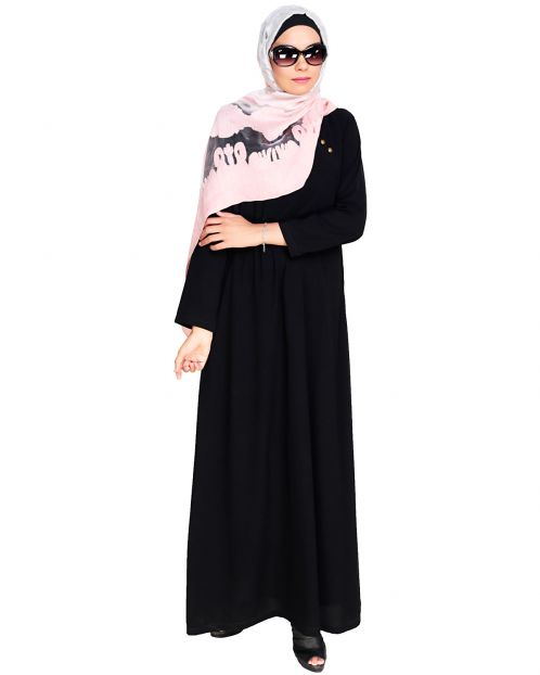 Black Trendy Abaya Dress