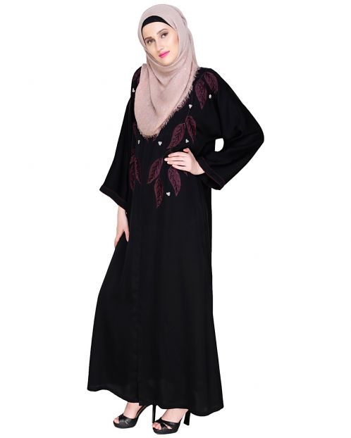 Blossomy Dubai Style Black Abaya