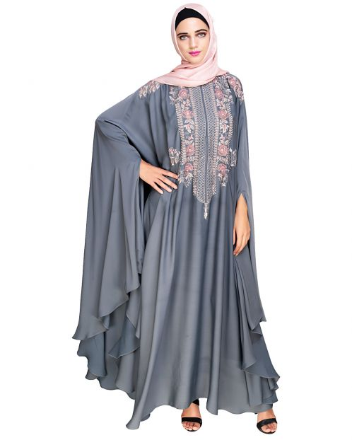 Royal Grey Irani Kaftan