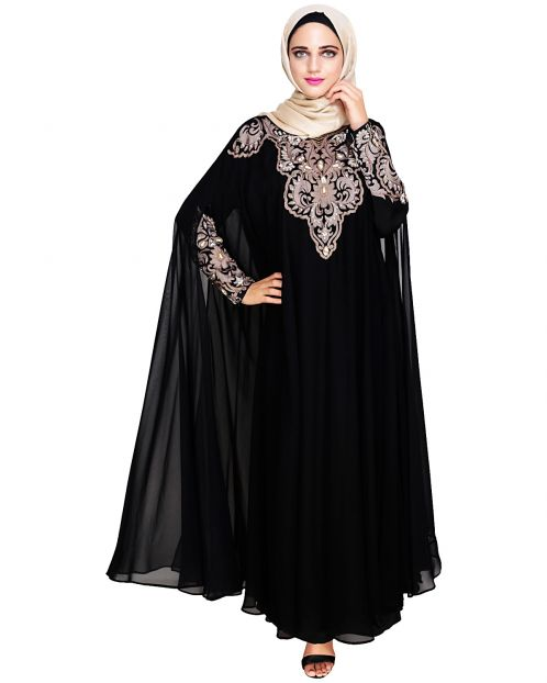Luxury Black Irani Kaftan