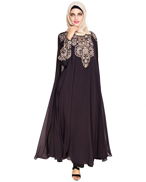 Luxury Purple Irani Kaftan