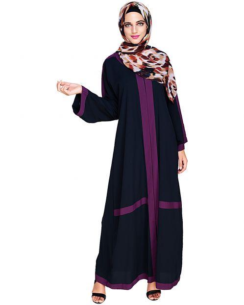 Enswathe Blue Dubai Style Abaya