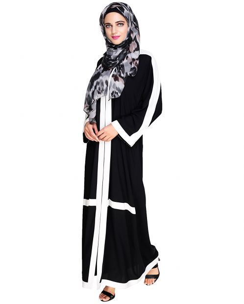 Enswathe Black Dubai Style Abaya