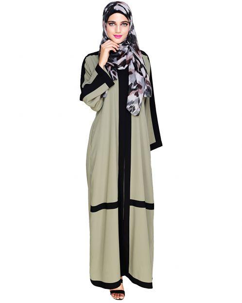 Enswathe Mint Green Dubai Style Abaya