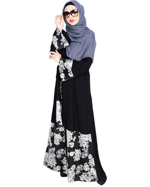 Premium Satin Black Abaya