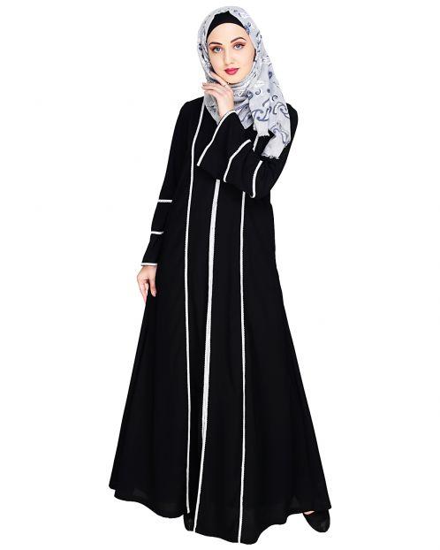 Snazzy Lace Black Abaya