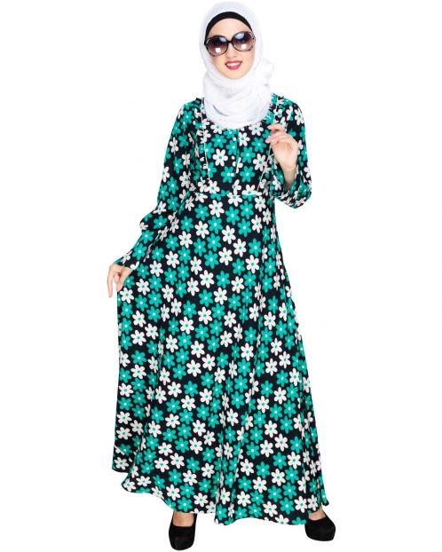 Particoloured Floral Maxi Dress