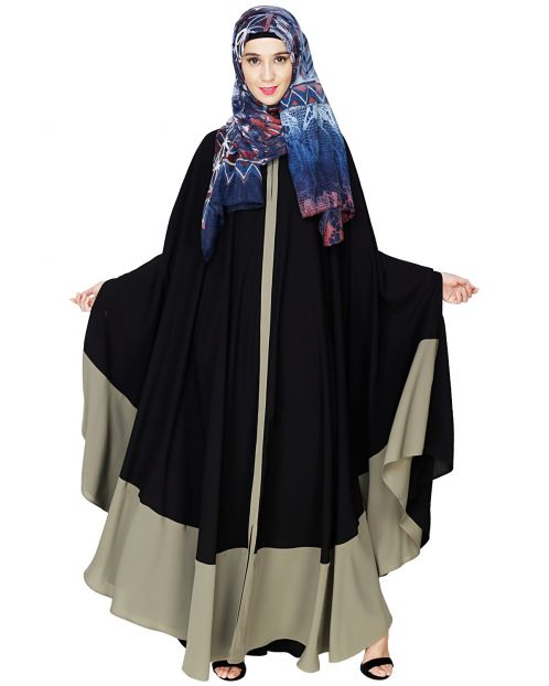 Colour Block Black Irani Kaftan