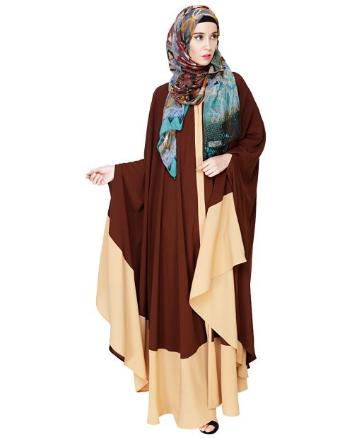 Colour Block Brown Irani Kaftan